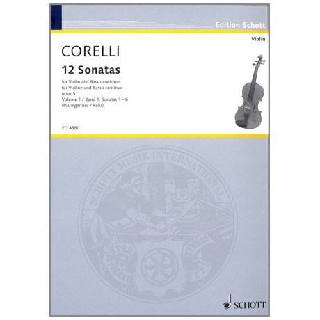 Corelli, A.: 12 Violinsonaten Op. 5 Band 1 (Nr. 1-6)