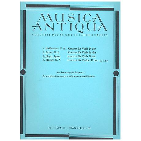 Pleyel, I. J.: Violakonzert Op. 31 D-Dur