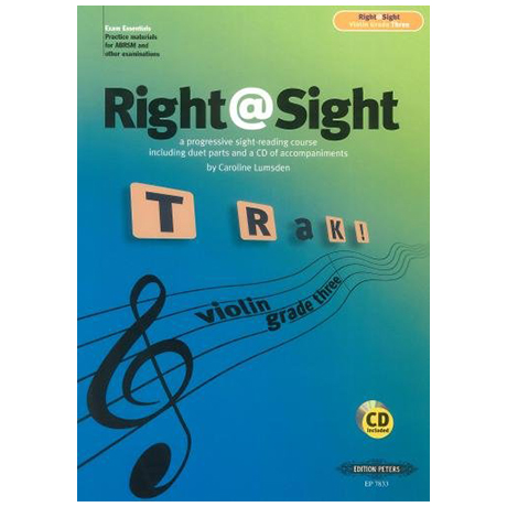 Lumsden, C.: Right@Sight for Violin Grade 3 (+CD)