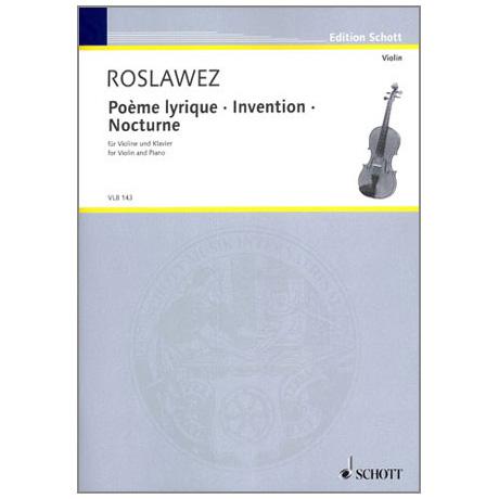 Roslawez, N. A.: Poème lyrique – Invention – Nocturne