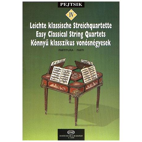 Pejtsik, A.: Leichte klassische Streichquartette Band 4
