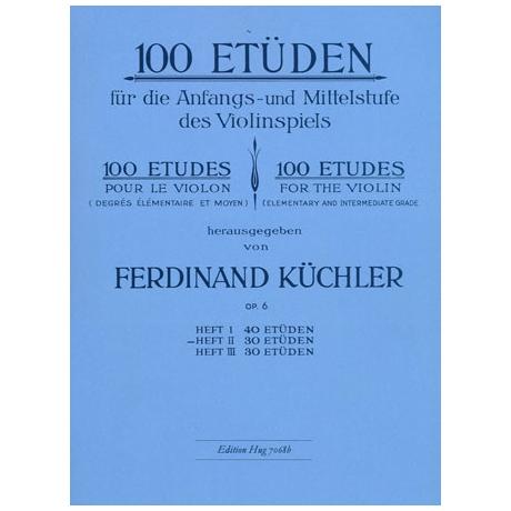 Küchler, F.: 100 Etüden Op. 6 Band 2