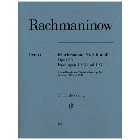 Rachmaninow, S.: Klaviersonate Nr. 2 Op. 36 b-Moll (1913/31)