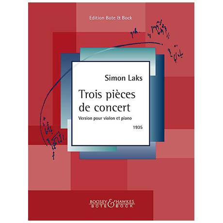 Laks, S.: 3 pièces de concert