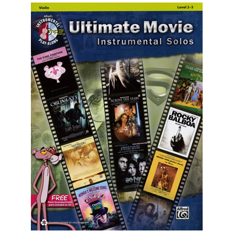 Ultimate Movie Instrumental Solos for Violin (+MP3-CD)