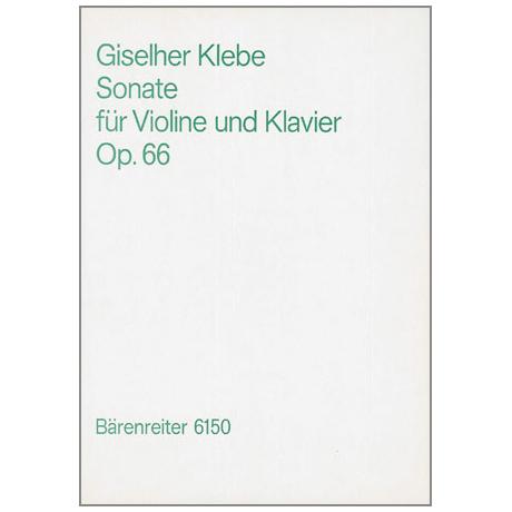 Klebe, G.: Violinsonate Nr. 3 Op. 66