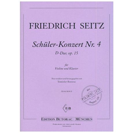 Seitz, F.: Schülerkonzert Nr. 4 D-Dur op. 15 (+CD)