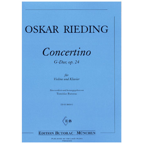 Rieding, O.: Concertino in G-Dur op. 24