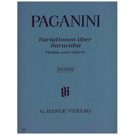 Paganini, N.: 60 Variationen über Baracuba Op. 14