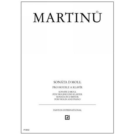 Martinu, B.: Violinsonate d-Moll