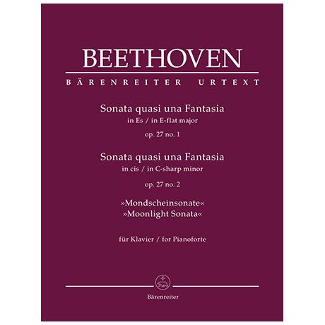 Beethoven, L. v.: Sonata quasi una Fantasia Op. 27/1 und Op. 27/2 »Mondscheinsonate«