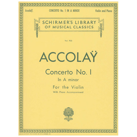 Accolay, J.B.: Concerto No. 1 in a-Moll