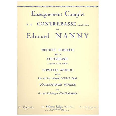 Nanny, E.: Vollständige Schule des 4- und 5-saitigen Kontrabasses Band 1