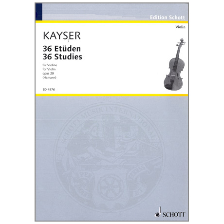 Kayser: 36 Etüden op.20