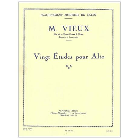 Vieux, M.: 20 Études pour Alto