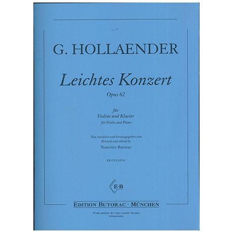 Hollaender, G:. Leichtes Konzert Op. 62