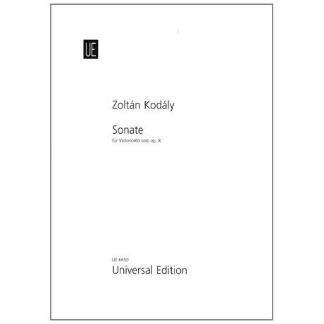Kodály, Z.: Violoncellosonate Op. 8