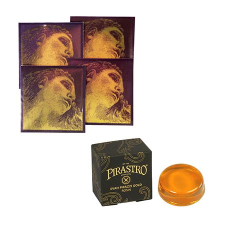 PIRASTRO Evah Pirazzi GOLD Violinsaiten SATZ + Kolophonium