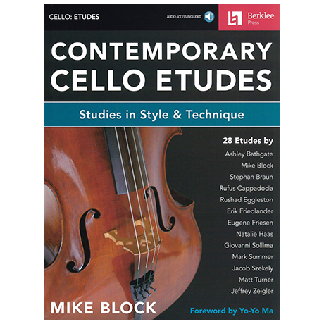 Block, M.: Contemporary Cello Etudes (+Online Audio)