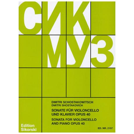 Schostakowitsch, D.: Sonate Op. 40