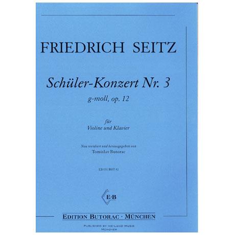 Seitz, F.: Schülerkonzert Nr. 3 Op. 12 g-Moll