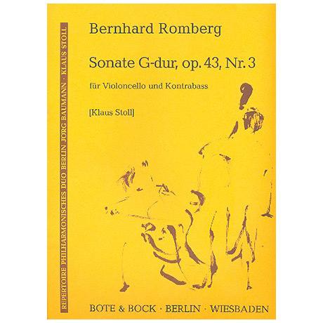 Romberg, B.: Sonate Op. 43/3 G-Dur