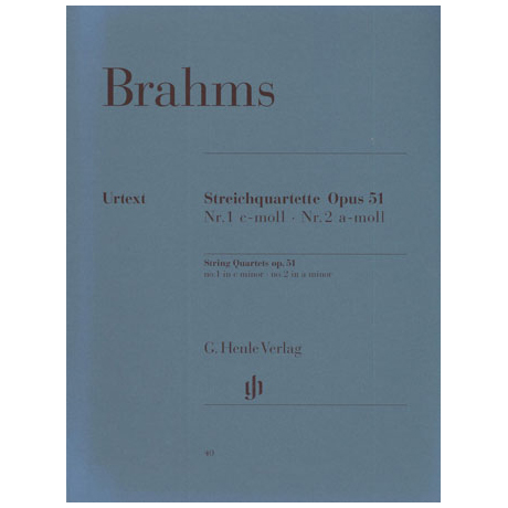 Brahms, J.: Streichquartette Op. 51/1&2