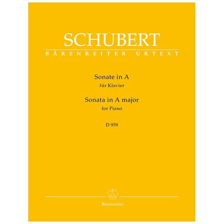 Schubert, F.: Sonate A-Dur D 959