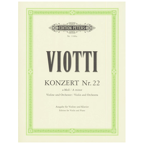 Viotti: Violinkonzert Nr. 22 a-moll