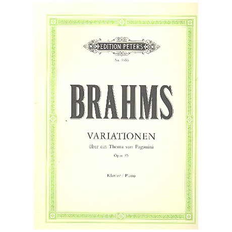 Brahms, J.: Paganini-Variationen Op. 35