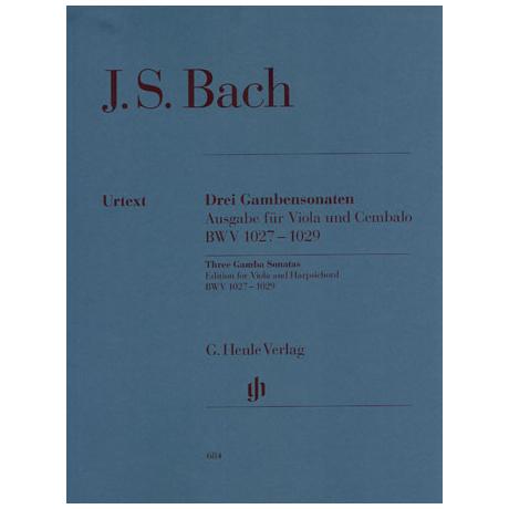 Bach, J.S.: 3 Gambensonaten für Viola und Cembalo