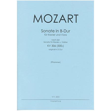 Mozart, W. A.: Violasonate B-Dur nach KV 306