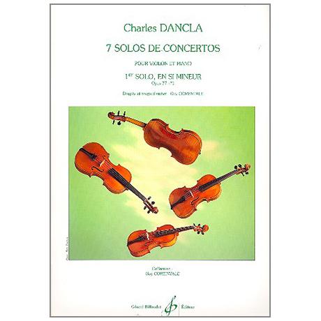 Dancla, Ch.: Solo de concerto Op. 77/1 si mineur