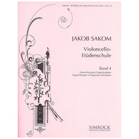 Sakom, J.: Violoncello-Etüden-Schule Heft 4