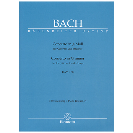 Bach, J. S.: Cembalokonzert BWV 1058 g-Moll