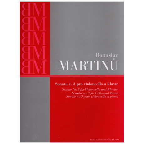 Martinu, B.: Sonate Nr. 3