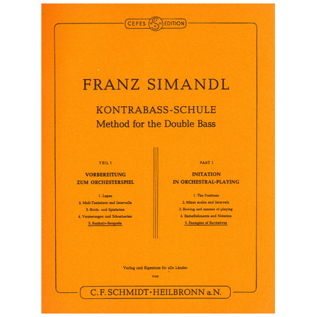 Simandl, Franz: Kontrabass-Schule Band 5