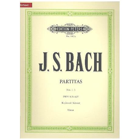 Bach, J.S.: Partiten (Klavierübung Teil I) Band I BWV 825-827
