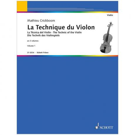 Crickboom, M.: Die Technik des Violinspiels Band 1