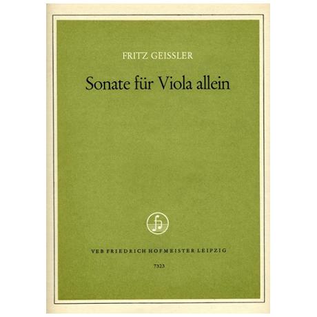 Geißler, F.: Sonate für Viola allein