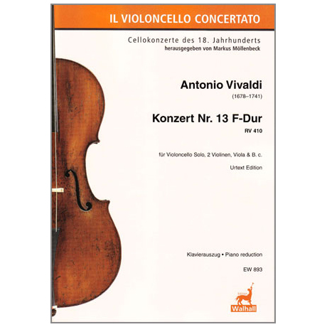 Vivaldi, A.: Violoncellokonzert Nr.13 F-Dur RV410