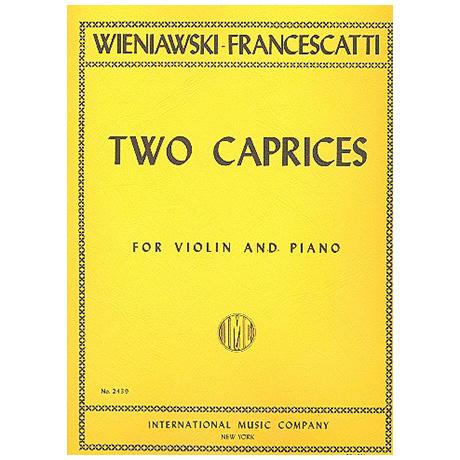 Wieniawski, H.: 2 Caprices