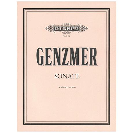 Genzmer, H.: Violoncellosonate