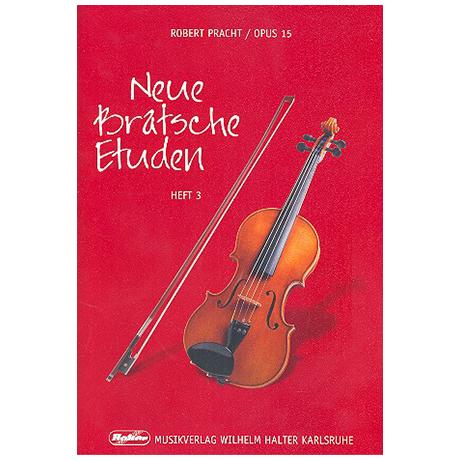 Pracht, R.: Neue Bratschen-Etüden Op.15 Band 3