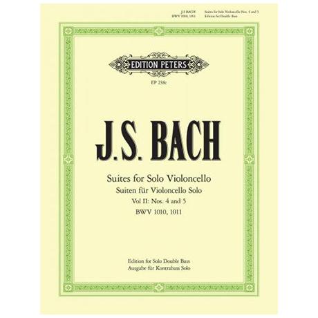 Bach, J.S.: 6 Solosuiten (Cello) Suite 4-5