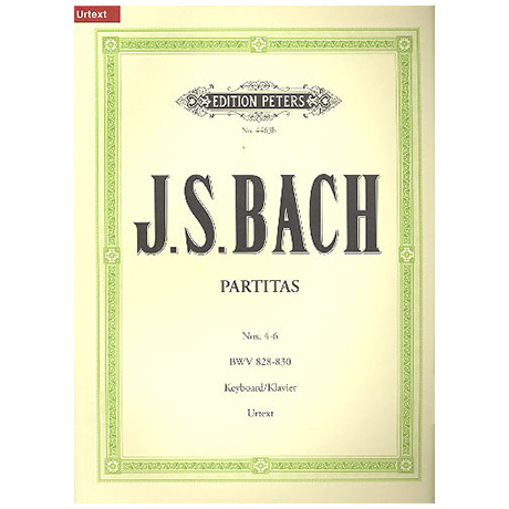 Bach, J. S.: Partiten (Klavierübung Teil I) Band II BWV 828-830