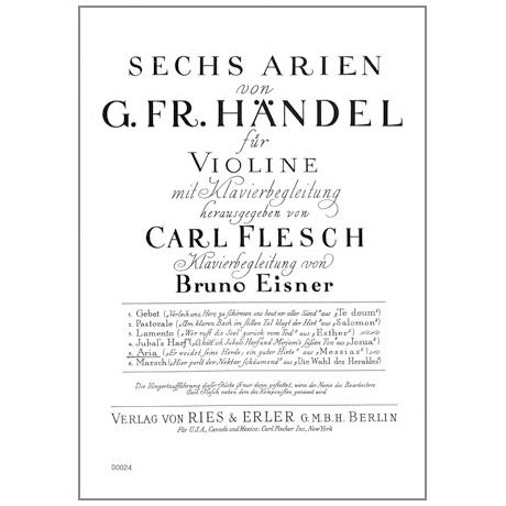 Händel, G. F.: 6 Arien Band 5 — Aria