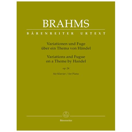 Brahms, J.: Variationen und Fuge über ein Thema von Händel Op. 24