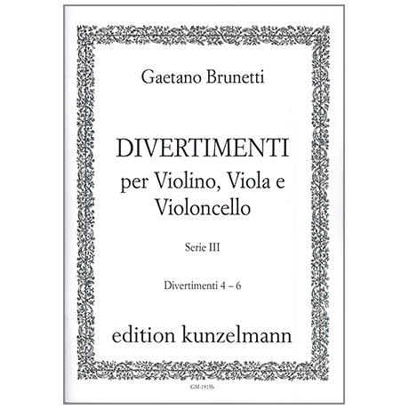 Brunetti, G.: Divertimenti 4-6