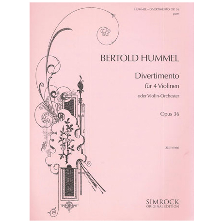 Hummel, B.: Divertimento Op. 36